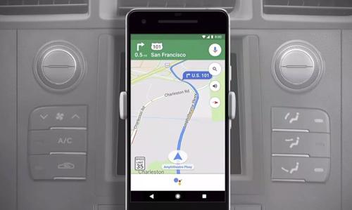 Android vest Google pomoćnik optimizovan za navigaciju u Google mapama za Android